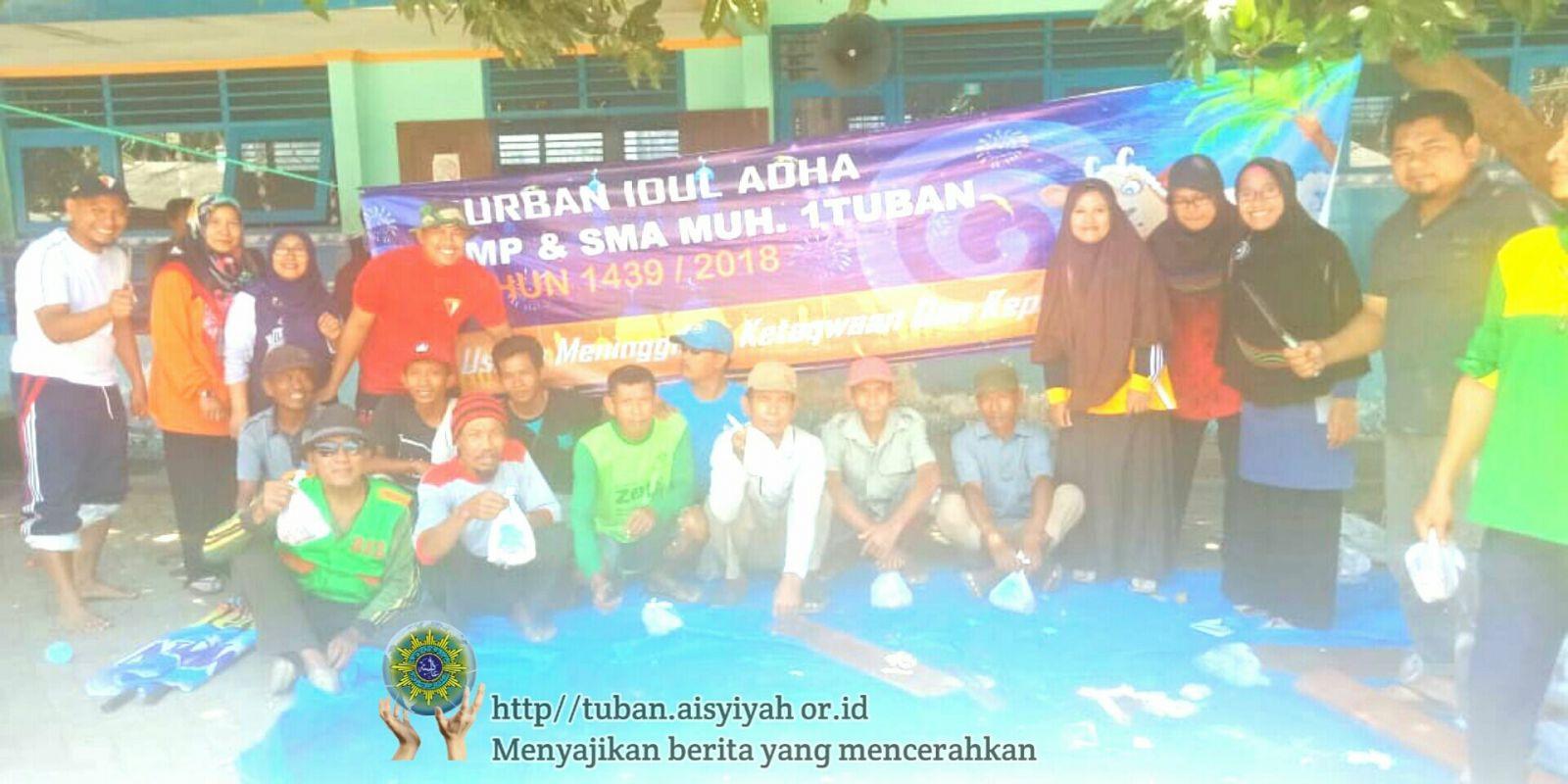 SMP Muhammadiyah 1 Tuban Konsisten Menyembelih Hewan Qurban