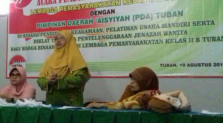 Pimpinan Daerah Aisiyah Tuban mengadakan Pembinaan rutin di Lembaga Pemasyarakatan Tuban melalui bidang Pendidikan dan Keagamaan